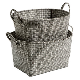 Oval Nested Woven Nylon Bins from Container Store