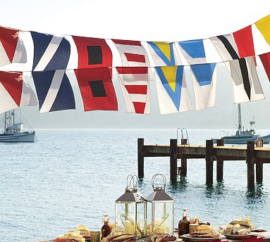 Pottery Barn Marine Flags