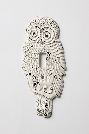 Anthro Owl Lightswitch Cover